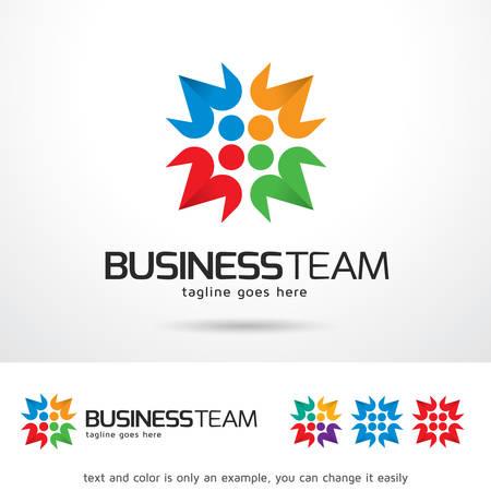 business team: Business Team Template Design Vector