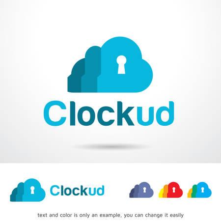 brand activity: Cloud Lock Template Design Vector