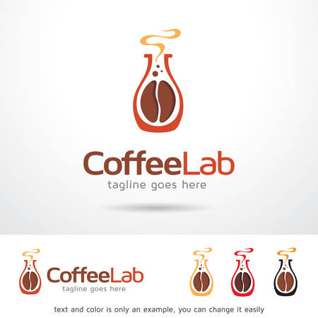 contemporary taste: Coffee Lab Template Design Vector