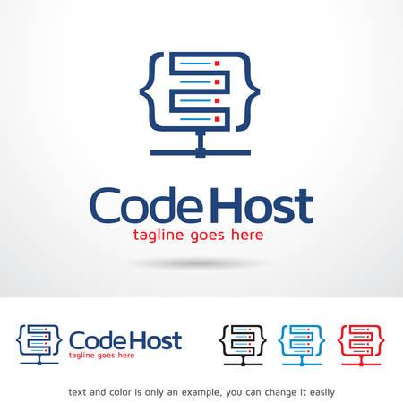 Code Hosting Template Design Vector Ilustrace
