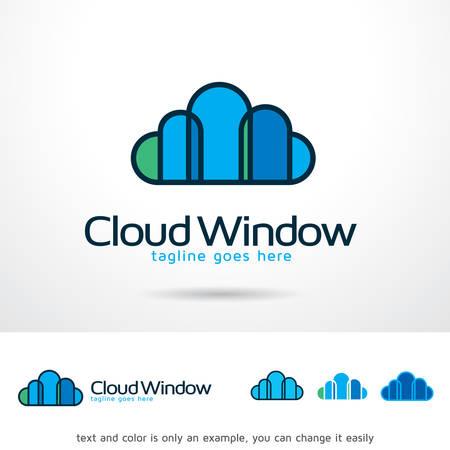 Cloud Window Template Design Vector