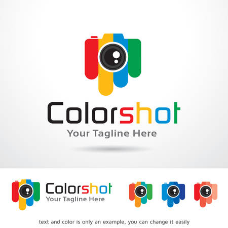 color photography: Color Photography Template Design Vector