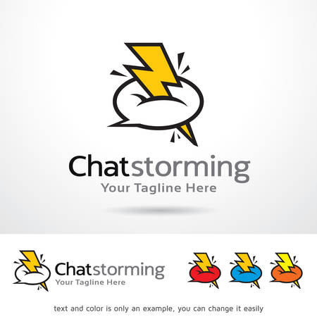 Chat Storming Template Design Vector Ilustrace