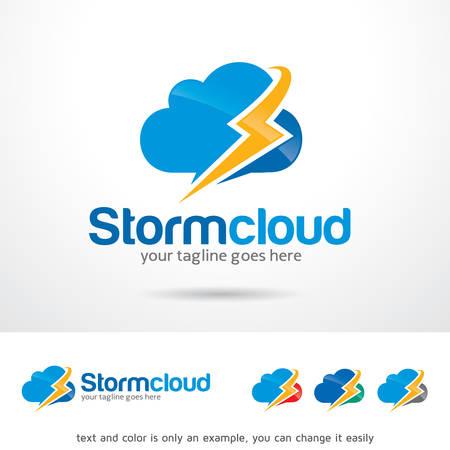 storm cloud: Storm Cloud Template Design Vector Illustration