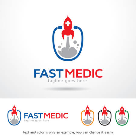 brand activity: Fast Medic Logo Template Design Vector Illustration