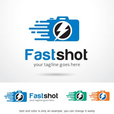 Fast Shot Logo Template Design Vector
