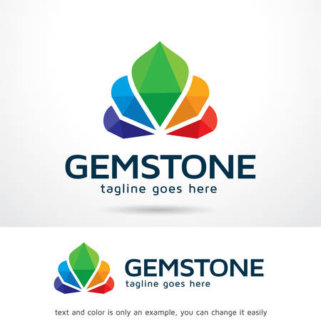 Gemstone Logo Template Design Vector