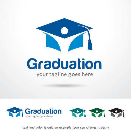 卒業のロゴのテンプレート デザインのベクトル