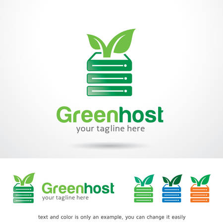 host: Green Host Logo Template Design Vector