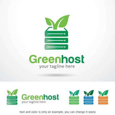 Green Host Logo Template Design Vector