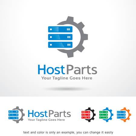 host: Host Parts Logo Template Design Vector
