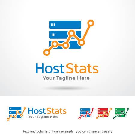 host: Host Stats Logo Template Design Vector