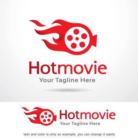 Hot Movie Logo Template Design Vector