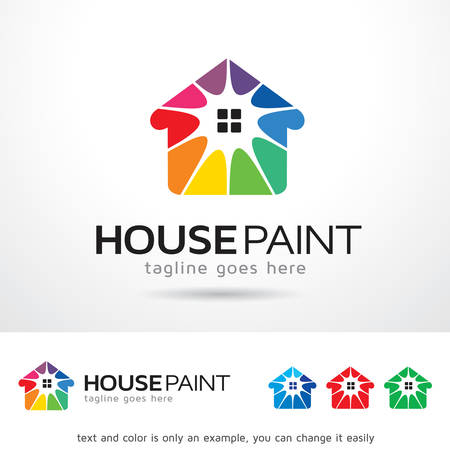paint house: House Paint Logo Template Design Vector Illustration