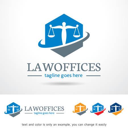 firme: Logo oficina legal plantilla de diseño vectorial Vectores