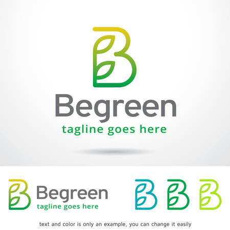 simple logo: Letter B Leaf Logo Template Design Vector
