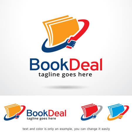 Book Deal Logo Template Design Vector