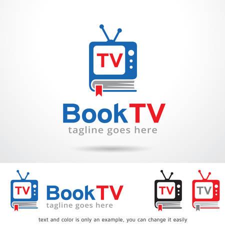 Book TV Logo Template Design Vector