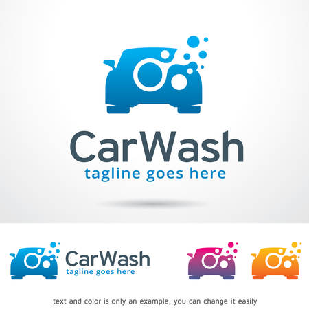 car wash: Car Wash Logo Template Design Vector
