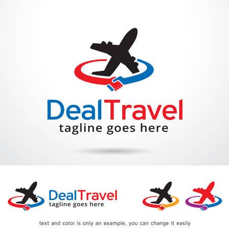 Deal Travel Logo Template Design Vektor Logo