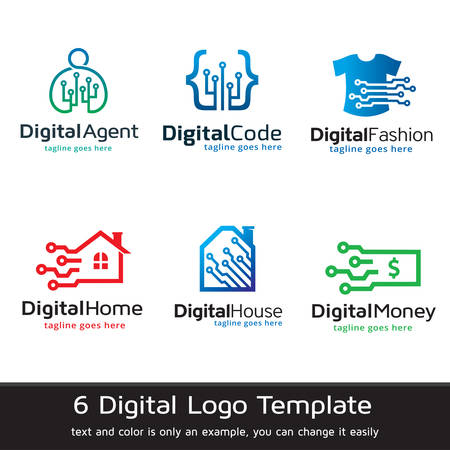 Digital Logo Template Design Vector