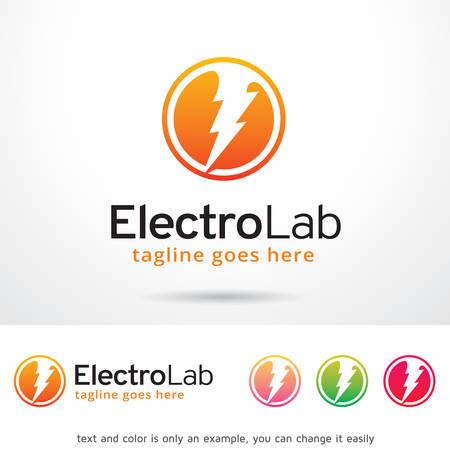 Electro Lab Logo Template Design Vector