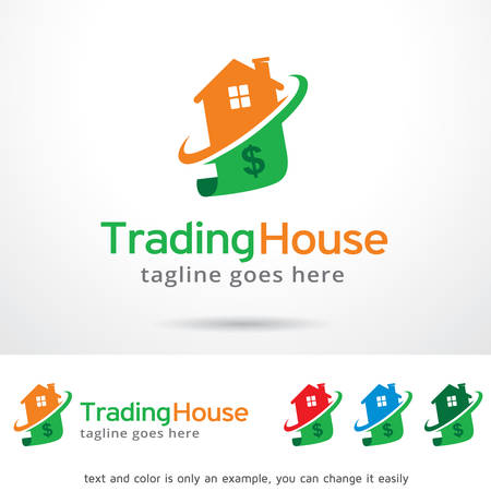 Trading House Logo Template Design Vector
