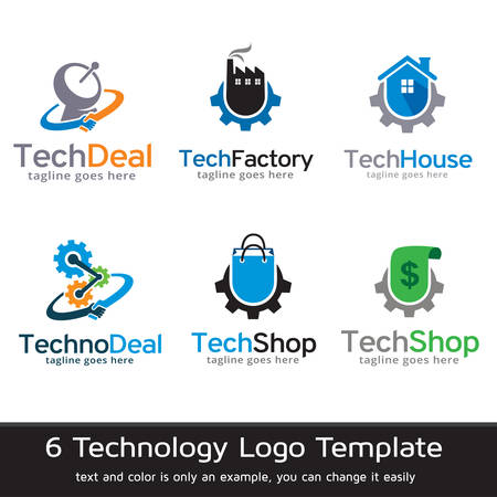 Technologie Logo Template Design Vector Banque d'images - 61921167