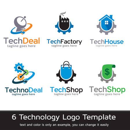 Technologie Logo Template Design Vector