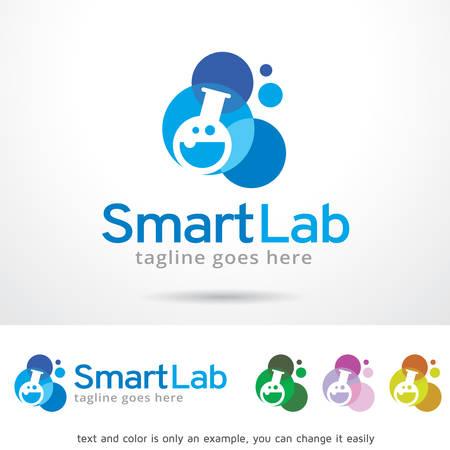 smart: Smart Lab Logo Template Design Vector Illustration