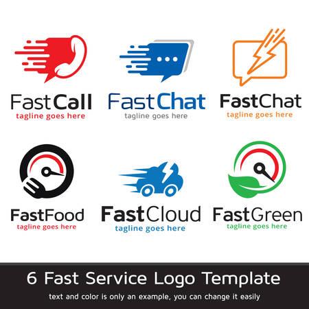 Fast Logo Template Design Vector Ilustração