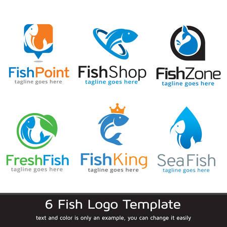 logo poisson: Poissons Logo Template Design Vector