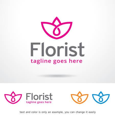 Florist Logo Template Design Vector