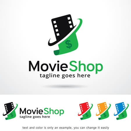 Movie Shop Logo Template Design Vector Çizim