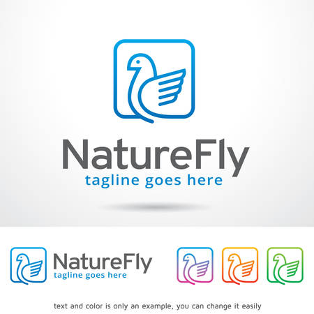brand activity: Nature Fly Logo Template Design Vector Illustration