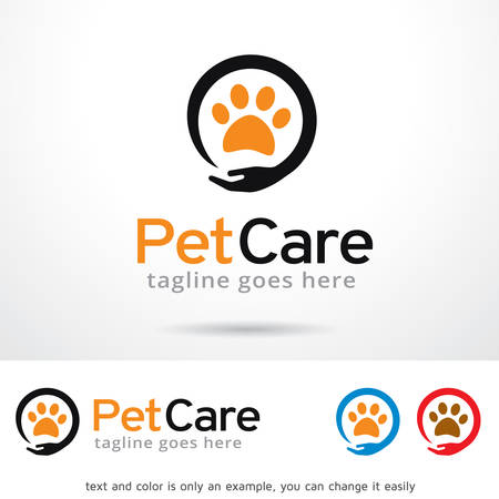 Pet Care Logo Template Design Vector