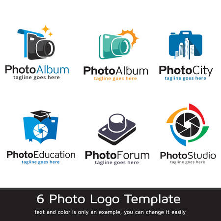 photo album: Photo Logo Template Design Vector