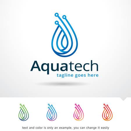 Aqua Technologia Logo Szablon wektora projektu