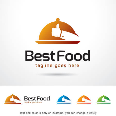 contemporary taste: Best Food Logo Template Design Vector Illustration