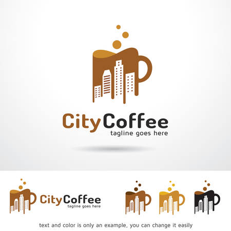 hot couple: City Coffee Logo Template Design Vector Illustration