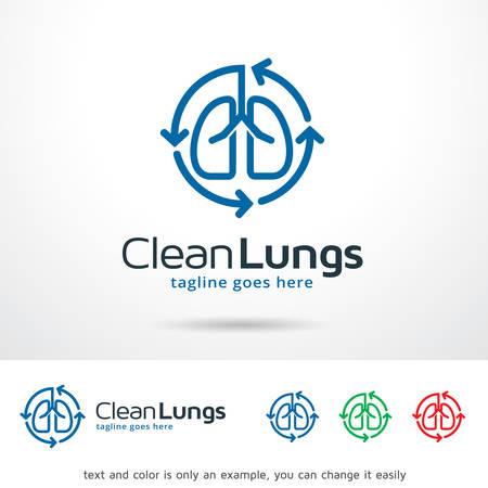 clean lungs: Clean Lungs Logo Template Design Vector