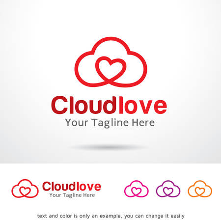 Cloud Love Logo Template Design Vector 向量圖像