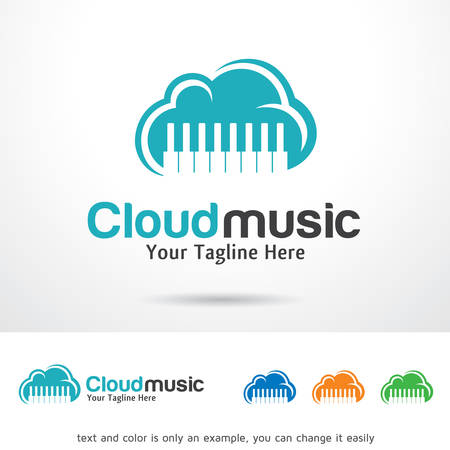 brand activity: Cloud Music Logo Template Design Vector