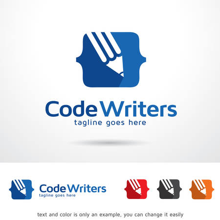 Code Writers Logo Template Design Vector