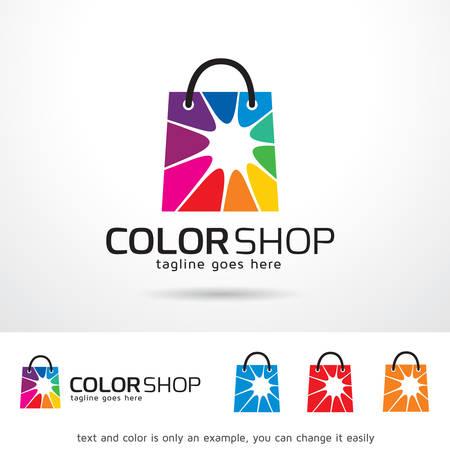 ショップのロゴのテンプレート デザインのベクトルを色  イラスト・ベクター素材