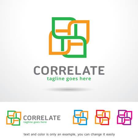 Correlate Logo Template Design Vector Vectores