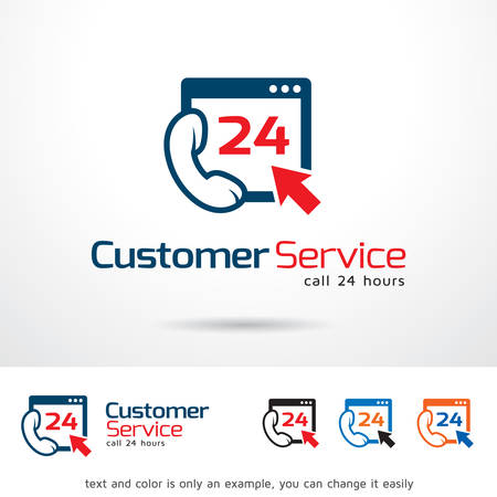customer service phone: Customer Service Logo Template Design Vector Illustration
