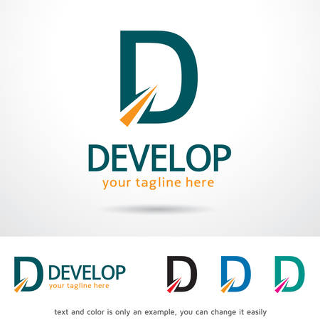 Ontwikkel Letter D Logo Template Design Vector