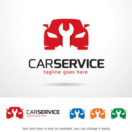 auto service: Car Service  Template Design Vector Illustration