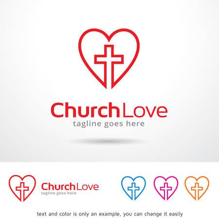 brand activity: Church Love  Template Design Vector
